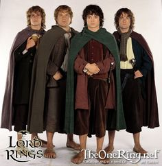 Lord of the Rings | Hobbits • Merry (Meriodoc Brandybuck); Sam (Samwise Gamgee); Frodo (Frodo Baggins); Pippin (Peregrin Took)