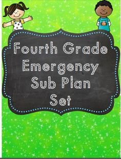 Suddenly sick? No time to run off sub plans? This 22 page NO prep, just print packet is perfect for your fourth graders to work on while you are out