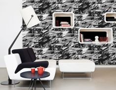Take a look at this unique contemporary faux-textured wallpaper that was featured in this week's Walls Republic blog post.