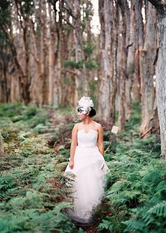 Bridal portrait in the woods #11