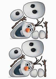 Olaf The Snowman Face Template - Invitation Templates