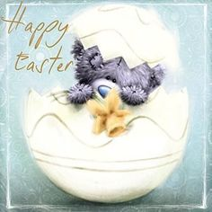 Happy Easter Square Me to You Bear Easter Card Tatty Teddy, Teddy Beer, Easter Quotes, Easter Sayings, Fizzy Moon, Teddy Bear Pictures, Blue Nose Friends, Easter Wishes, Cross Stitch Baby