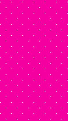 Hot pink // white // polka dots pink polka dots wallpaper, pink wallpaper i