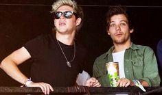 Niall and Louis at Glastonbury