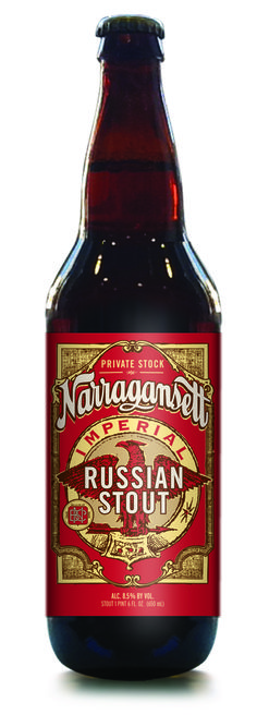 Private Stock Series: Narragansett Imperial Russian Stout- With Northern Brewer and Hallertau hops, and both German and American malts—this brew is another nod to the six German-Americans who founded Narragansett in Narragansett Beer, Beer Logos, Cheap Beer, German Beer Steins, Beer 101, More Beer, Beers Of The World, Beer Bottles, Hooch