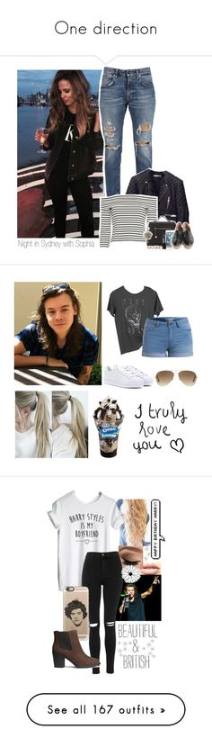 """""""One direction"""" by musicwildlife ❤ liked on Polyvore featuring Balenciaga, 10 Crosby Derek Lam, Halston Heritage, Chanel, MICHAEL Michael Kors, Smashbox, OBEY Clothing, Pieces, adidas and Ray-Ban"""