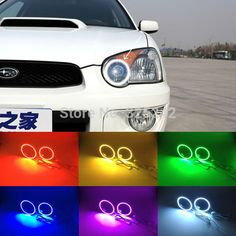 For Subaru Impreza 2002 2003 2004 2005 Excellent Angel Eyes kit Multi-Color Ultrabright 7