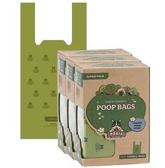Pogi's Poop Bags with Easy-Tie Handles - Large, Earth-Friendly, Scented, Leak-Proof Pet Waste Bags => You can find more details here : Cat litter