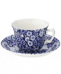 Calico Teacup and Saucer, Burleigh. Shop more from the Burleigh collection at Liberty.co.uk