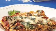 Going meatless doesn't mean giving up flavor with this layered lasagna, filled with vegetables and three kinds of cheese.