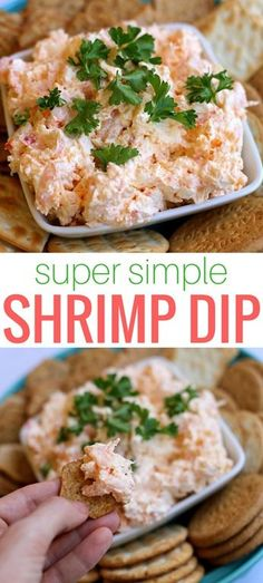 Simple Shrimp Dip Simple Shrimp Dip www pbfingers Easy to make and packed with tiny shrimp this simple shrimp dip with cream cheese will have you going back for more after every savory scoop Bonus You can prepare it the day before your party Appetizer Dips, Yummy Appetizers, Appetizers For Party, Appetizer Recipes, Party Dips, Seafood Appetizers, Simple Appetizers, Simple Snacks, Cream Cheese Dips