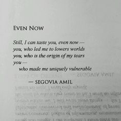 Even now...