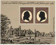 Goethe en Schiller postzegels uit de DDR 1980-1984
