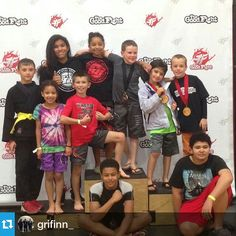 The kids got some grappling experience at the Good Fight tournament today! #nextgeneration