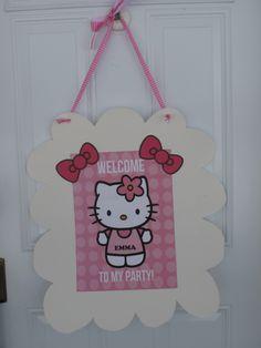 Hello Kitty birthday party door sign