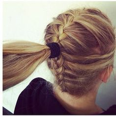 Double French braid into a pony tail.!