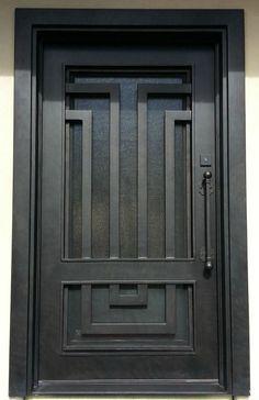 Most Unique Iron Doors Stairs and more. House Main Gates Design, Home Door Design, Grill Door Design, Iron Gate Design, Main Door Design, Modern Door Design, Wooden Front Door Design, Iron Front Door, Welcome Signs Front Door