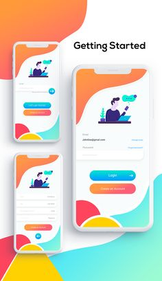 Login template specially designed for E-commerce, Register, UI/UX, Mobile App, r. - Expolore the best and the special ideas about App design Ios App Design, Mobile Ui Design, Design Web, Login Page Design, Android App Design, Design Social, Design Food, Dashboard Design, Wireframe Design