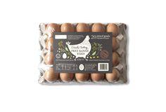Otiaka Valley Free Range Eggs, Label design for 20-egg carton by Dessein, Australia