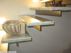 Scala in acciaio e marmo [3]