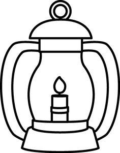 Black and White Lantern
