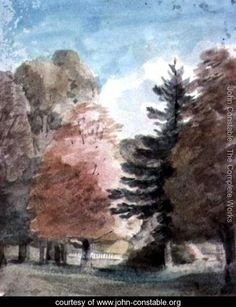 Study of Trees in a Park - John Constable - www.john-constable.org