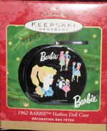 In 1993 Hallmark started selling Barbie Christmas Ornaments, in 2013 American Greetings took over. Here is a complete list of Barbie Ornaments by year with pictures Hallmark Christmas Ornaments, Christmas Gift Decorations, Winter Christmas, Christmas Tree, Christmas Barbie, Barbie Style, Hat Boxes, American Greetings, Barbie Collector