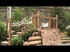 children's natural playgrounds - image search. Such a great way to incorporate a play area into a landscaped backyard!