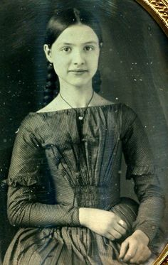 1850's Beautiful young lady.