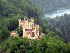 Bavarian Castles Tour | hohenschwangau castle seen from neighbouring neuschwanstein castle