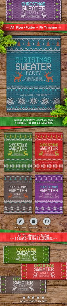 Ideas For Holiday Party Flyer Xmas Party Flyer, Nye Party, Xmas Party, Holiday Parties, Holiday Fun, Christmas Flyer Template, Stocking Stuffers For Girls, Halloween Flyer, Christmas Design