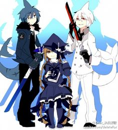 Tags: Anime, Deletefox, Wadanohara and the Great Blue Sea, Samekichi, Wadanohara, Sal (Wadanohara), Shark