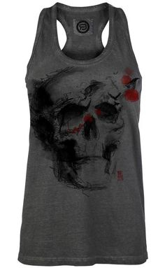 Ink Skull Vest by R.E.D ~ EMP