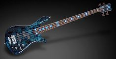 "Warwick Streamer LX 4 1"" Birdseye Poplar / Coloured Flamed Maple Dark Blue Transparent HP"