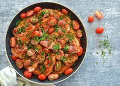Lette retter Arkiv - Madenimitliv Bacon, Snack Recipes, Snacks, Ratatouille, Live, Paella, Brunch, Ethnic Recipes, Dressing