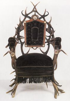 I LOVE Victorian antiques ... this Victorian Antler Chair is an exception - just sayin`!!!!!