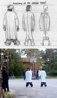 Anatomy of an urban thug #humor
