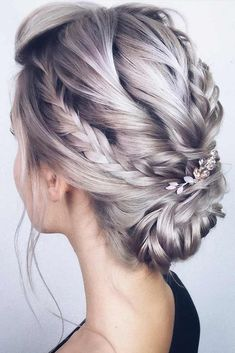 Accessorized Braided Updos For Prom #promhairstyles #longhair #hairstyles #updohairstyles ❤️ Check out our photo gallery featuring the fanciest prom hairstyles for long hair. It is the right place to make the perfect choice. #lovehairstyles #hair #hairstyles #haircuts