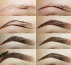 Make Up; Make Up Looks; Make Up Augen; Make Up Prom;Make Up Face; Makeup Steps Source by twaalam Eyebrow Makeup Tips, Skin Makeup, Beauty Makeup, Makeup Steps, Makeup Eyebrows, Nice Eyebrows, Arched Eyebrows, Short Eyebrows, Korean Eyebrows