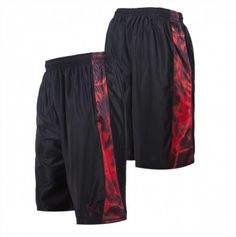 Bermuda Tapout Men's Storm Active Shorts Black Red #Bermuda #Tapout