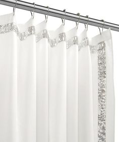 white and silver shower curtain.  Nicole Miller Sheer Bliss Shower Curtain Pinteres