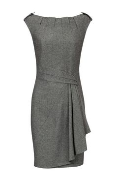 Karen Millen Twisted Tweed Dress, Grey... I'll look for a knockoff.  But cute!