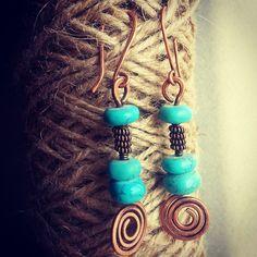Copper earrings #copperearrings #copperjewelry #wiregalaxy #wirewrap #jewerly #pendants #wirewrapped #wirework #wiregalaxy #boho #bohoring #fashion #artisan #crafts #steampunk #украшение #earrings #copper #прикраси #Ukrainian