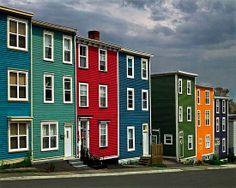 Jelly Bean Row House, Newfoundland, Canada