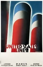 United States Lines / London, Paris, Bremen Vintage Travel Posters, Vintage Ads, Vintage Graphic, Regent Street, Art Deco Posters, Poster Ads, Art Deco Era, London, Illustrations Posters