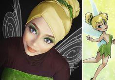Hijab da Disney: maquiadora usa seu véu pra criar visual de personagens famosos
