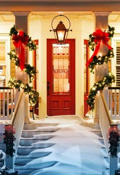 2013 Porch Christmas Decoration Ideas, #Decoration  #Ideas www.loveitsomuch.com