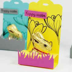 Oster-Geschenk mit Hasen von Lindt (und Silhouette-Schnittdatei auf dem Blog)