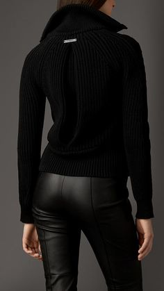Chunky Knit Bomber With Rabbit Collar | Burberry