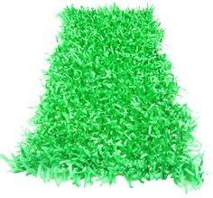 "15"" x 30"" Green Tissue Grass Decoration   Spring & Garden Theme Party Supplies"
